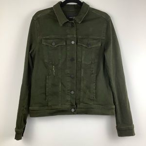 Articles of Society Distressed Jean Jacket Green